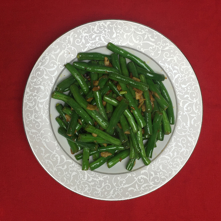 yum yum fusion vegetable green beans stir fried
